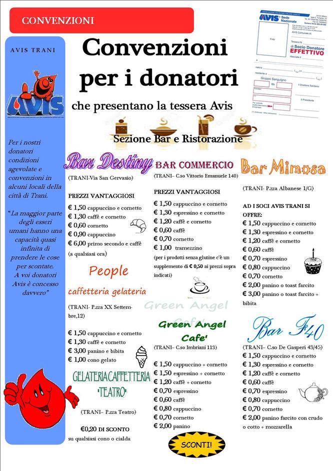 convenzioni per i donatori